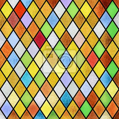 Sticker bunte abstrakte Glasfenster Hintergrund