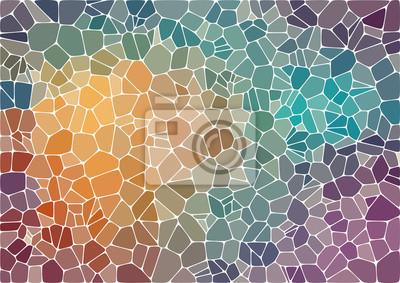 Sticker Bunte abstrakte Mosaik Hintergrund