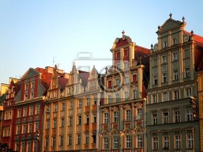 Bunte Gebäude in Polen