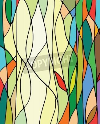 Sticker Bunte Glasfenster