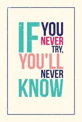 Sticker bunte Inspiration Motivation Poster. Grunge-Stil