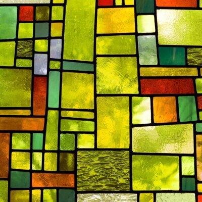 Sticker Bunte Kirchenfenster, quadratischen Format