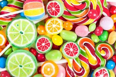 Sticker Bunte Lutscher und Bonbons