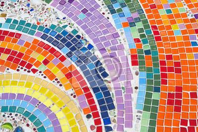 Sticker Bunte Mosaik