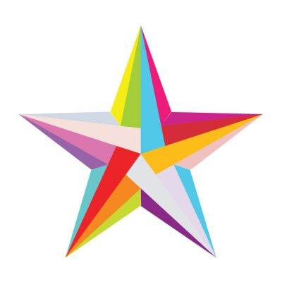 Sticker bunte Sterne