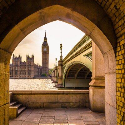 Sticker Bunter Big Ben - Ungewöhnlicher Winkel