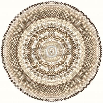 Sticker Bunter Hennastrauchentwurf