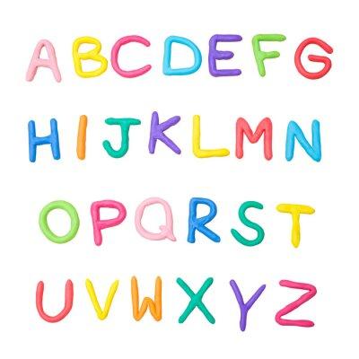 Sticker Buntes Alphabet a bis z