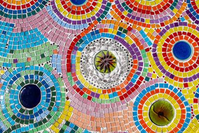 Sticker buntes Mosaik