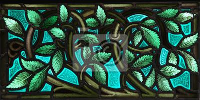 Sticker Buntglasblätter