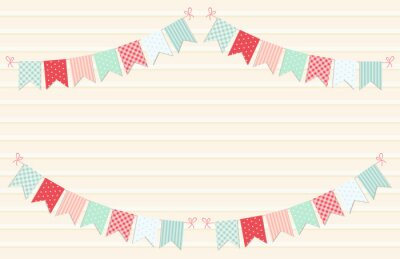 Sticker Bunting flags