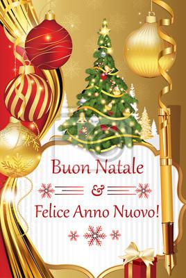Buon Natale Und Felice Anno Nuovo Neujahrswunsche In