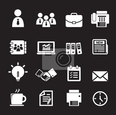 Buro Icon Notebook Sticker Wandsticker Reisszwecke Computer