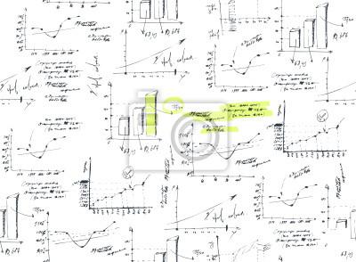 Business and Finance Graphen Hintergrund, nahtlos.