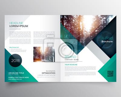 Sticker Business Bifold Broschüre oder Magazin Cover Design Vektor Vorlage