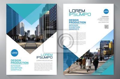 Sticker Business-Broschüre Flyer Design a4 Vorlage.