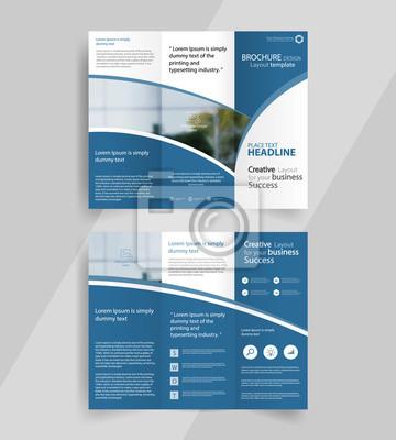 Sticker Business-Dreifach-Broschüre Layout-Design, Vektor-a4 Broschüre Vorlage