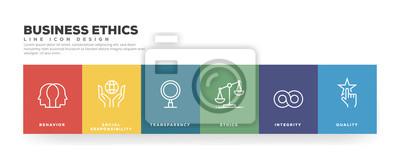 Sticker Business Ethics Line Icon Design