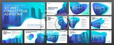 Sticker Business presentation templates set