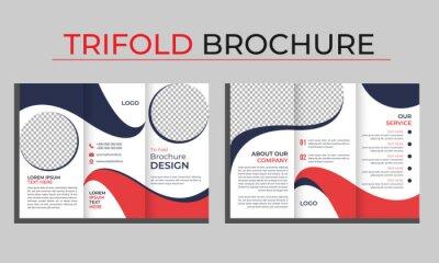 Sticker Business Trifold Brochure Design