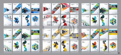 Sticker Business-Vektor-Mega-Set. Broschüre Vorlagen-Layout, Cover-Design