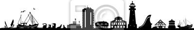 Büsum Skyline Cityscape