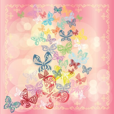 Butterfly-Set isoliert auf stieg Hintergrund