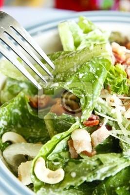 Caesar Salat mit Gabel