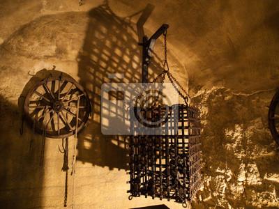 Sticker Cage in Folterkammer