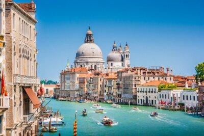 Sticker Canal Grande mit der Basilika von Santa Maria della Salute, Venedig, Italien