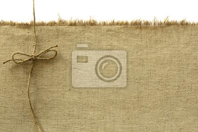 Canvas und Seil in einer Schleife gebunden