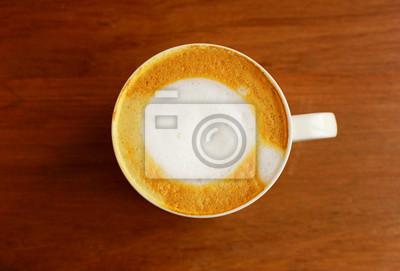 Cappuccino oder Kaffee Latte