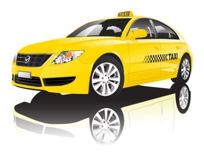 Sticker Car Cab Taxi Öffentliche Shiny Performance Concept