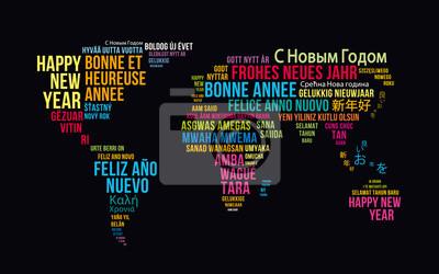 carte de voeux bonne année Monde 2