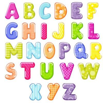 Sticker Cartoon Alphabet