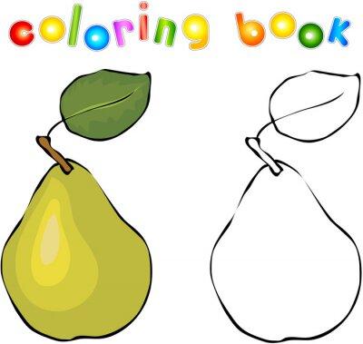 Sticker Cartoon Birnen Malbuch