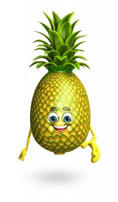 Sticker Cartoon Charakter Ananas