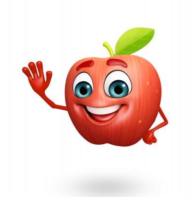 Sticker Cartoon Charakter Apfelfrucht