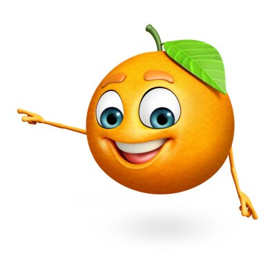 Sticker Cartoon Charakter orange
