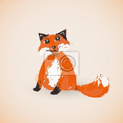 Cartoon fox, Vektor-Illustration auf dem Hintergrund