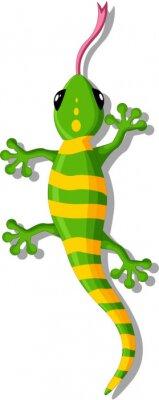 Sticker Cartoon gecko für Sie Design