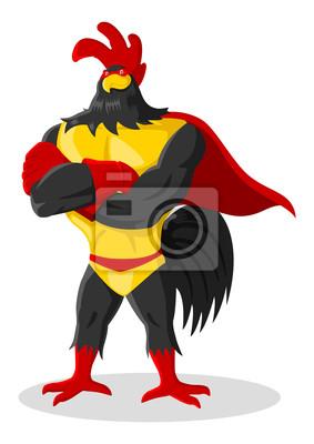 Cartoon Illustration der Super-Hahn