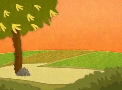 Sticker Cartoon stilvoller Hintergrund Raster-Darstellung.