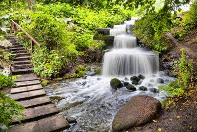 Sticker Cascade Wasserfall im Park Planten un Blomen in Hamburg
