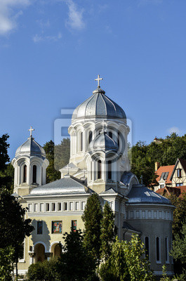 Central Park, orthodox-Kirche in Brasov Rumänien