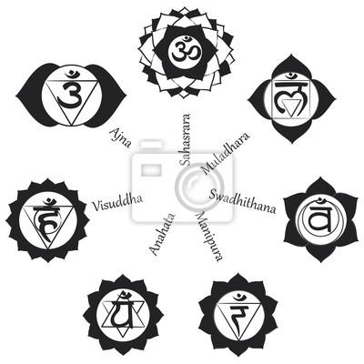 Chakren Symbole Konzept Der Chakren Im Hinduismus Buddhismus