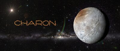 Sticker Charon im Weltraum.