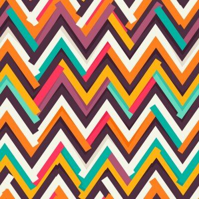 Sticker Chevron Papier ausgeschnitten nahtlose Muster
