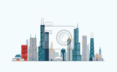 Chicago bunte Skyline