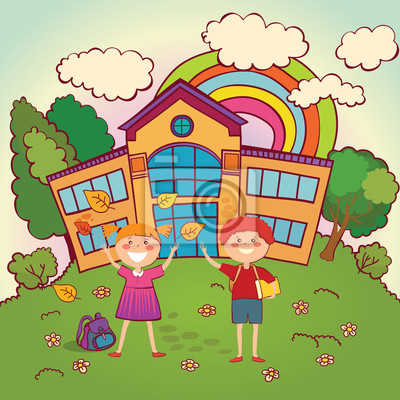 Children back to school.